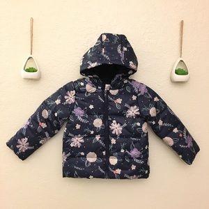 GYMBOREE Girls Floral Puffer Coat